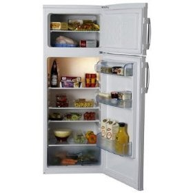 LEC T5556W Fridge/Freezer Freestanding