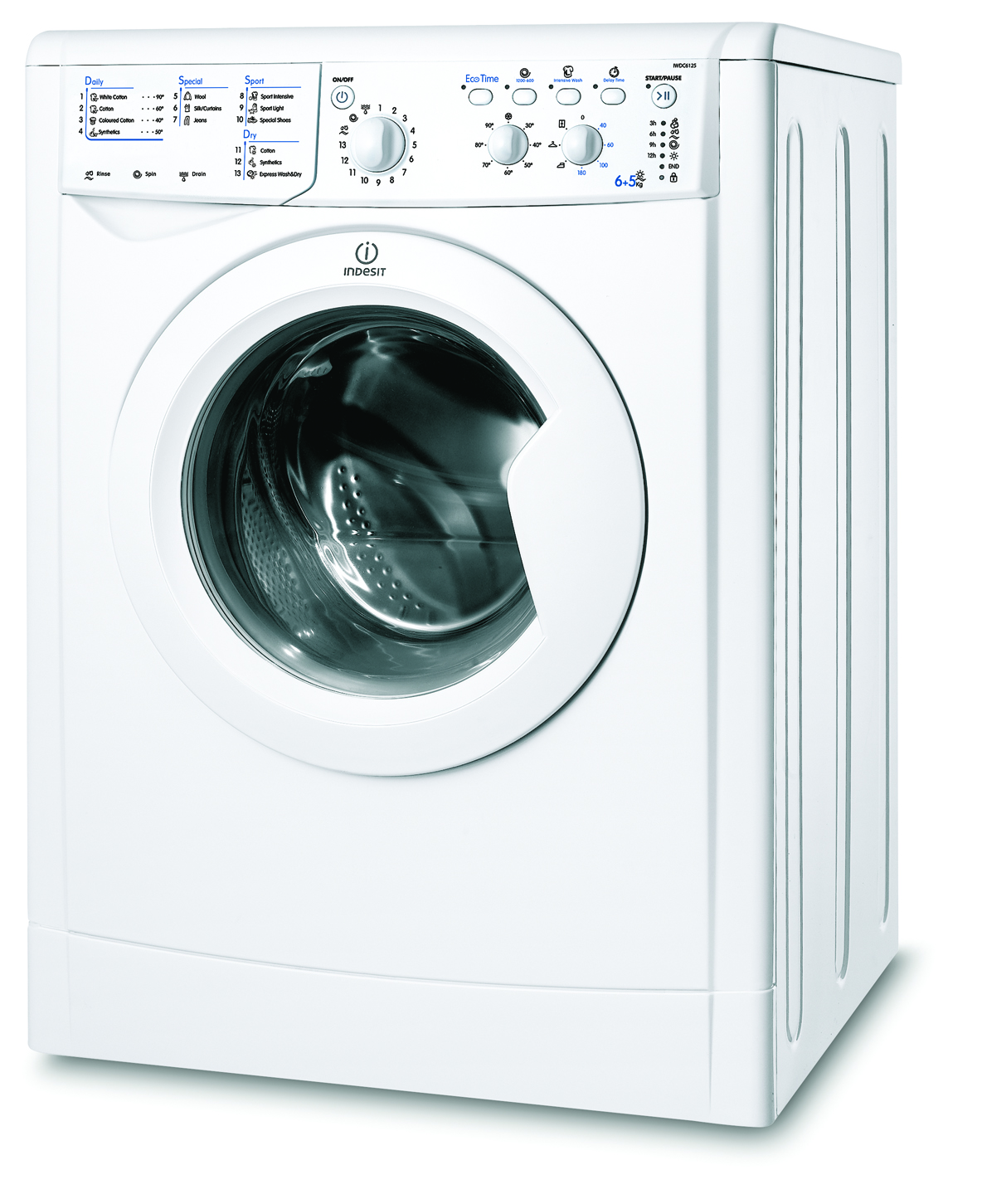 buy washer dryers in london indesit iwdc6125 washer dryer freestanding domex appliance store. Black Bedroom Furniture Sets. Home Design Ideas